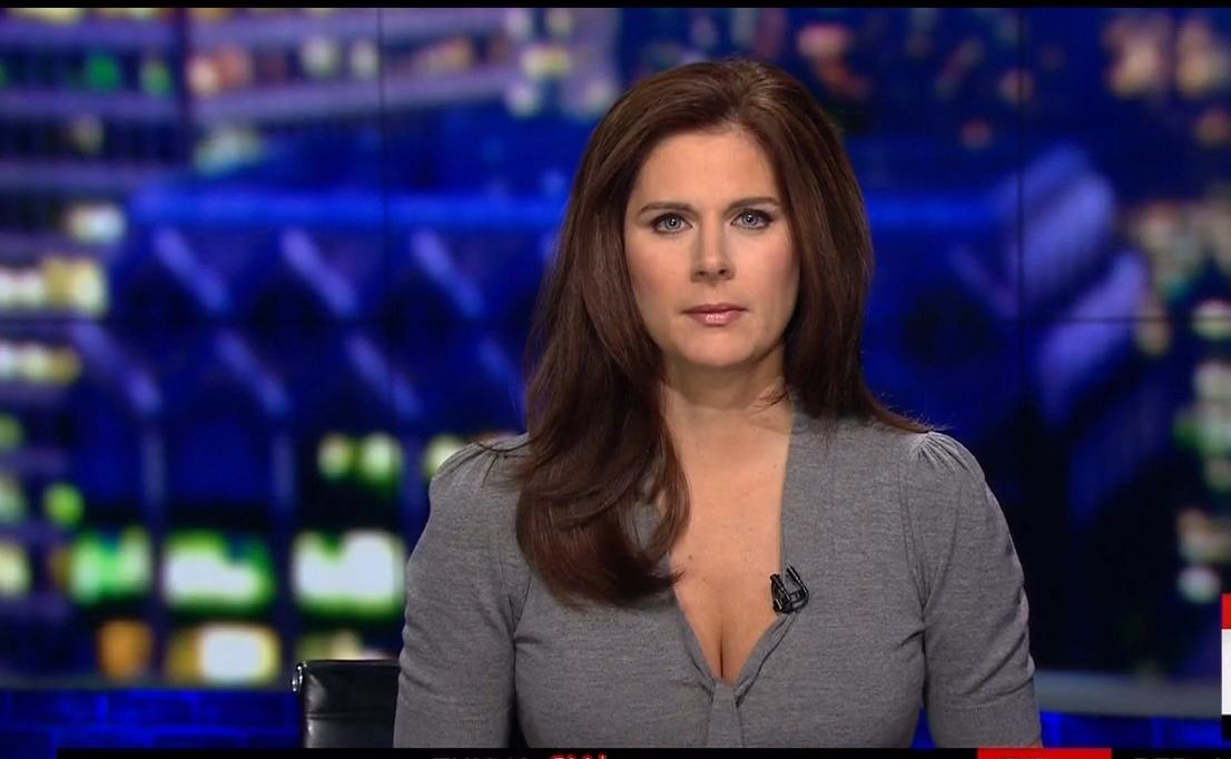 Erin Burnett Hot Bikini Pics, News Host Kissing Scene 14